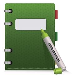 Green diary vector