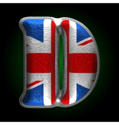 Great britain metal figure d vector