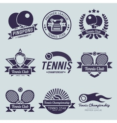 Tennis label black vector