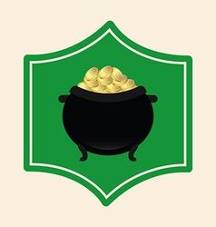 Pot gold vector