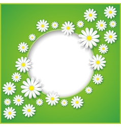 Abstract background with flower camomile vector