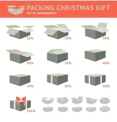 Packing of cristmas gift vector