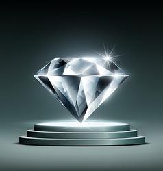 Diamond on the podium vector