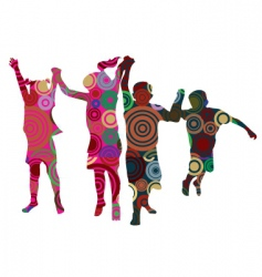 Kids made from circles vector