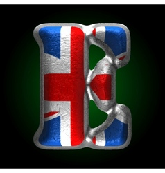 Great britain metal figure e vector