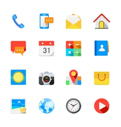 Main icons for mobile phone and application vector