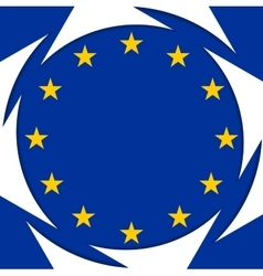 European union colors abstract corporate vector