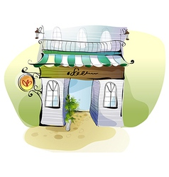 Creative cafe shopfront vector