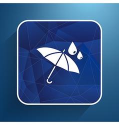 Waterproof icon water proof symbol umbrella vector