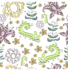 Floral design in a tender colors vector