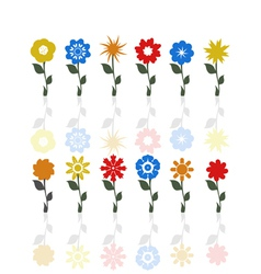 Flowers on a stem vector