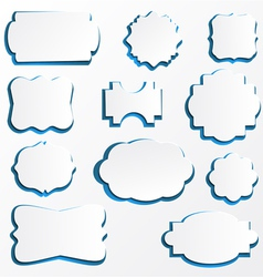 Ornate paper frames vector
