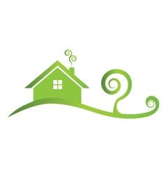 Green house icon logo vector