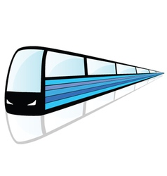 Train with blue line vector