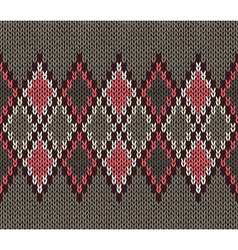Seamless jacquard ornament vector