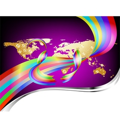Colorful global background vector
