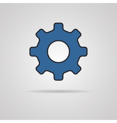 Cog icon with shadow vector