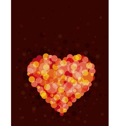 Lovely red heart vector