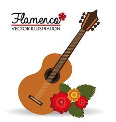 Flamenco design vector
