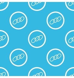 Chain sign blue pattern vector