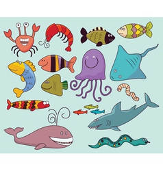 Underwater wildlife vector