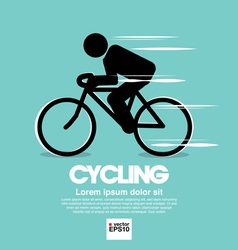 Cycling graphic symbol vector