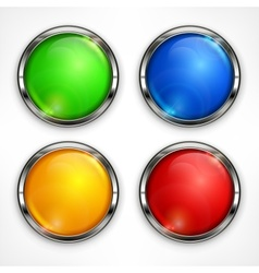 Color circles on white vector