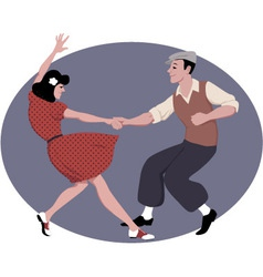 Lindy hop dancing vector