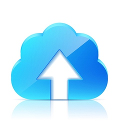 Upload cloud icon vector