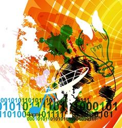 Urban communication concept background vector