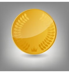 Gold coin icon vecotr vector
