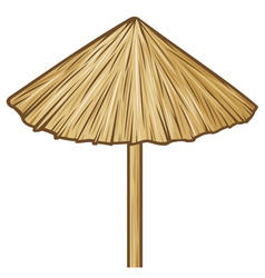 Straw umbrella vector