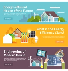 Energy saving house banner vector