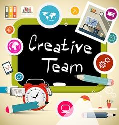 Creative team vector
