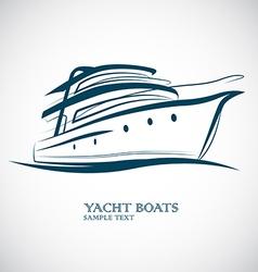 Yacht boat vector