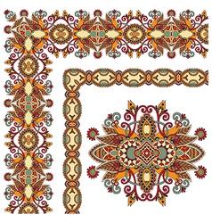 Ornamental floral vintage frame design set vector
