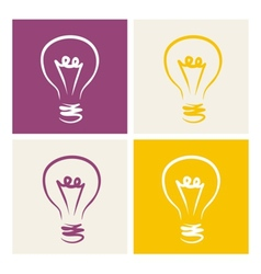Light bulb icon symbol on colorful backgrounds vector
