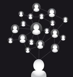 Social media connection stock vector