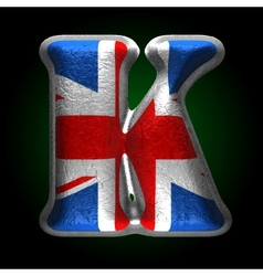 Great britain metal figure k vector