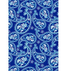 Blue paisley pattern vector