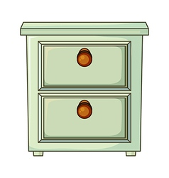 A table with drawer vector