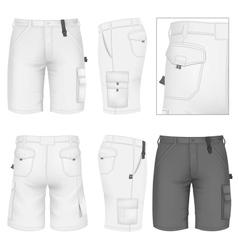 Mens bermuda shorts design templates vector