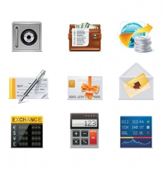 banking icons part 2 vector
