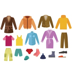 Color mens clothing collection vector