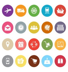 Logistic flat icons on white background vector
