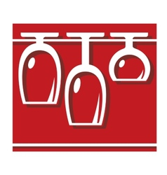 Glassware pub or bar icon vector