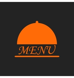 Menu text in orange cloche on black vector