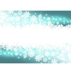 Winter snowflake background vector