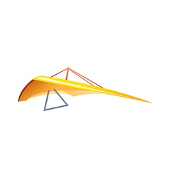 Icon hang glider vector