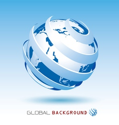 Blue global background vector
